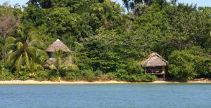 View of Al Natural Resort from the water