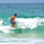 Surfing in Bocas del Toro