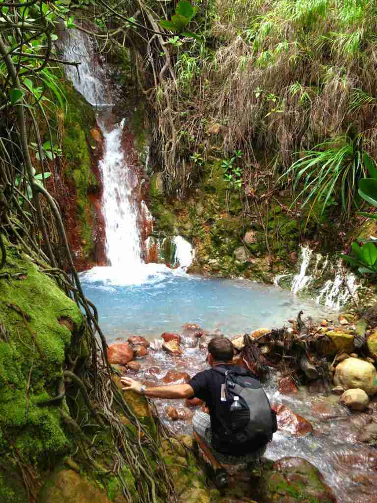 Hot springs on Dominica