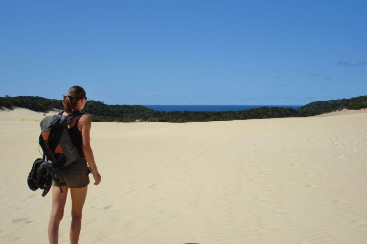 Fraser Island Lake Wabby sand dune