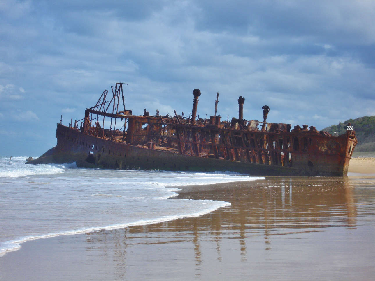 Maheno ship wreck is a picturesque spot on the east coast of Fraser Island