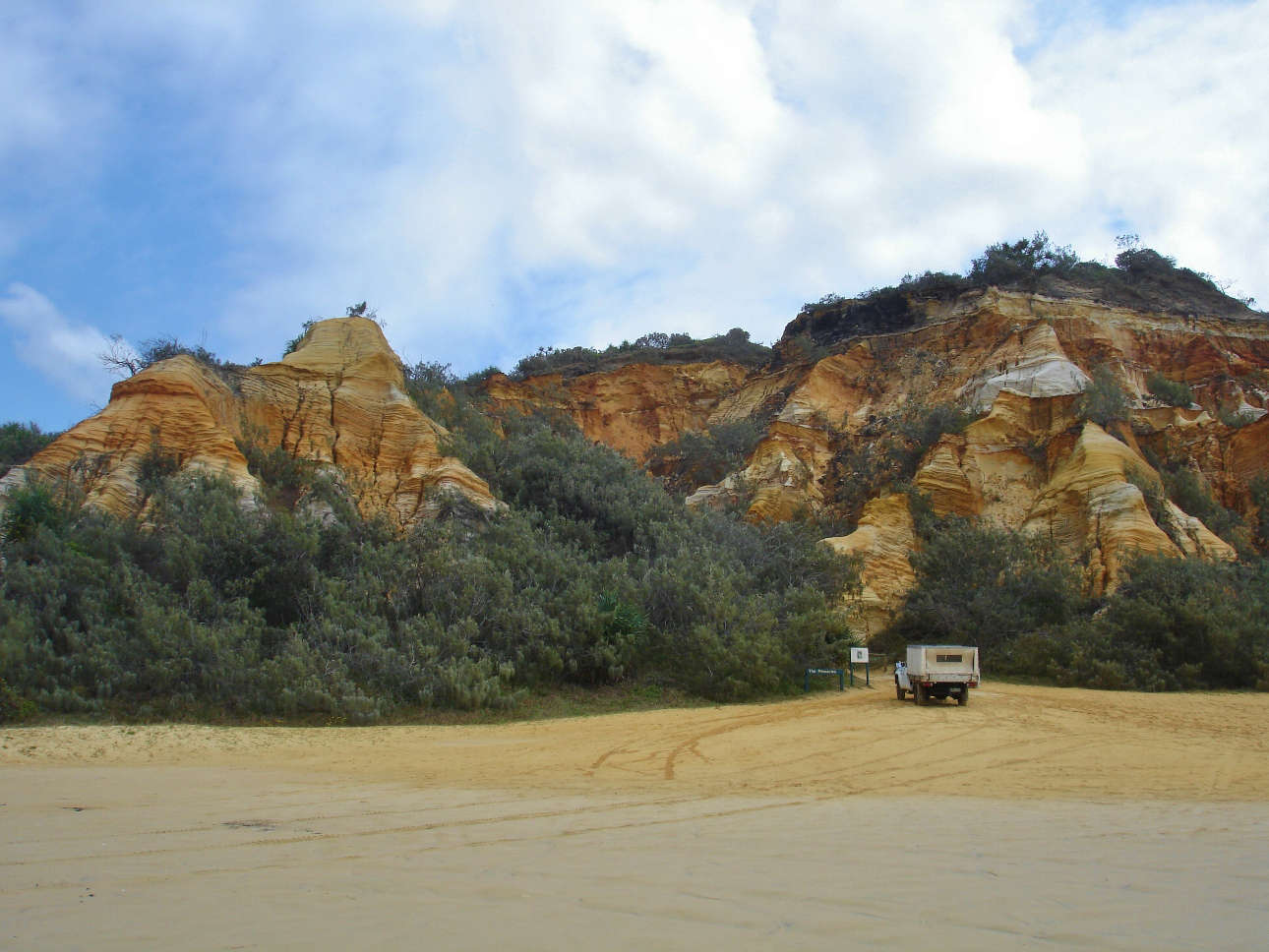 The Cathedrals - a unique rock formation on Fraser Island