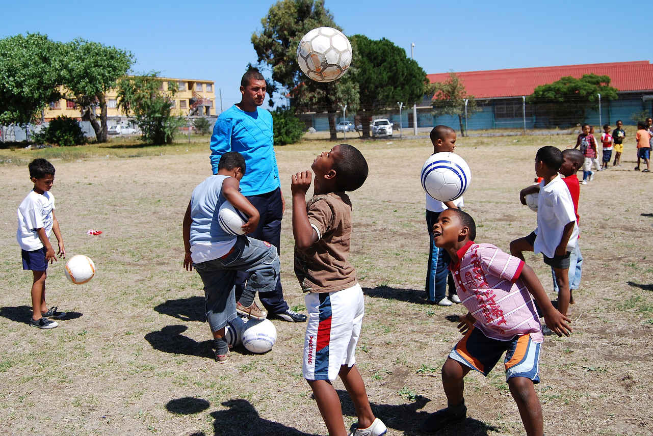 Pack for a Purpose footballs for school in South Africa