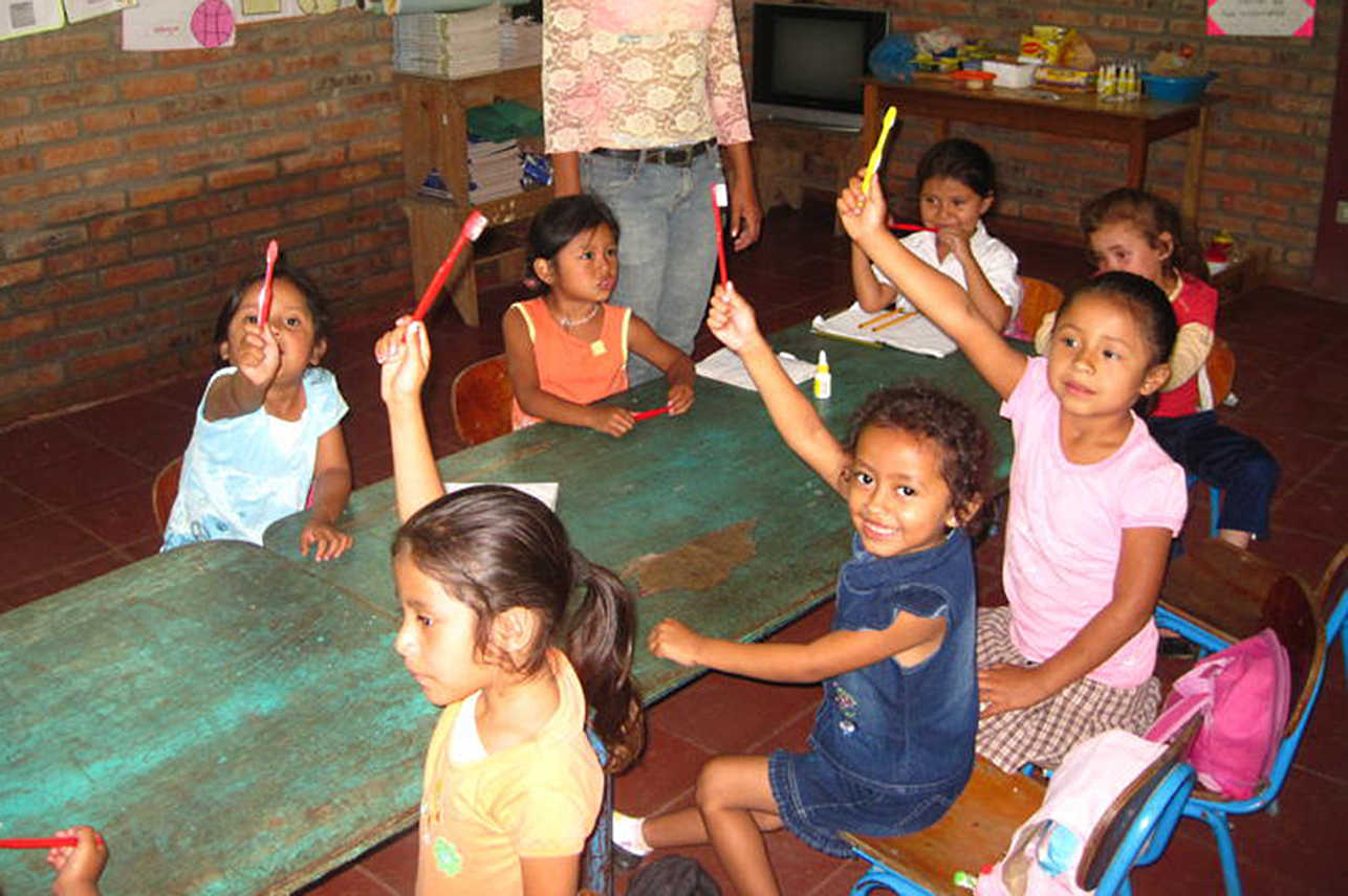 Pack for a Purpose toothbrushes in Nicaragua