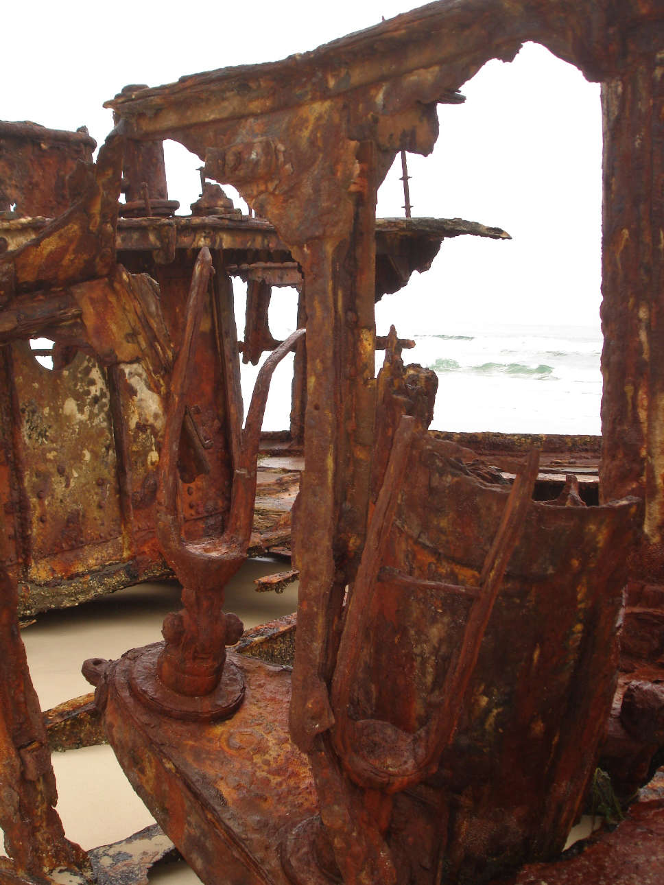 Interior of the Maheno ship wreck