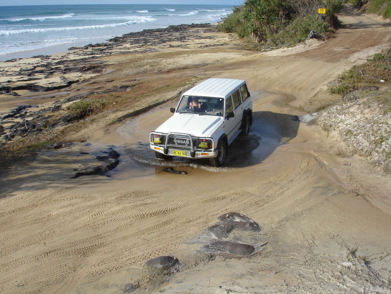 Creek crossing on Fraser Island