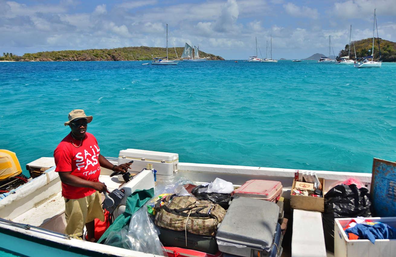 Boat boy in the Tobago Cays