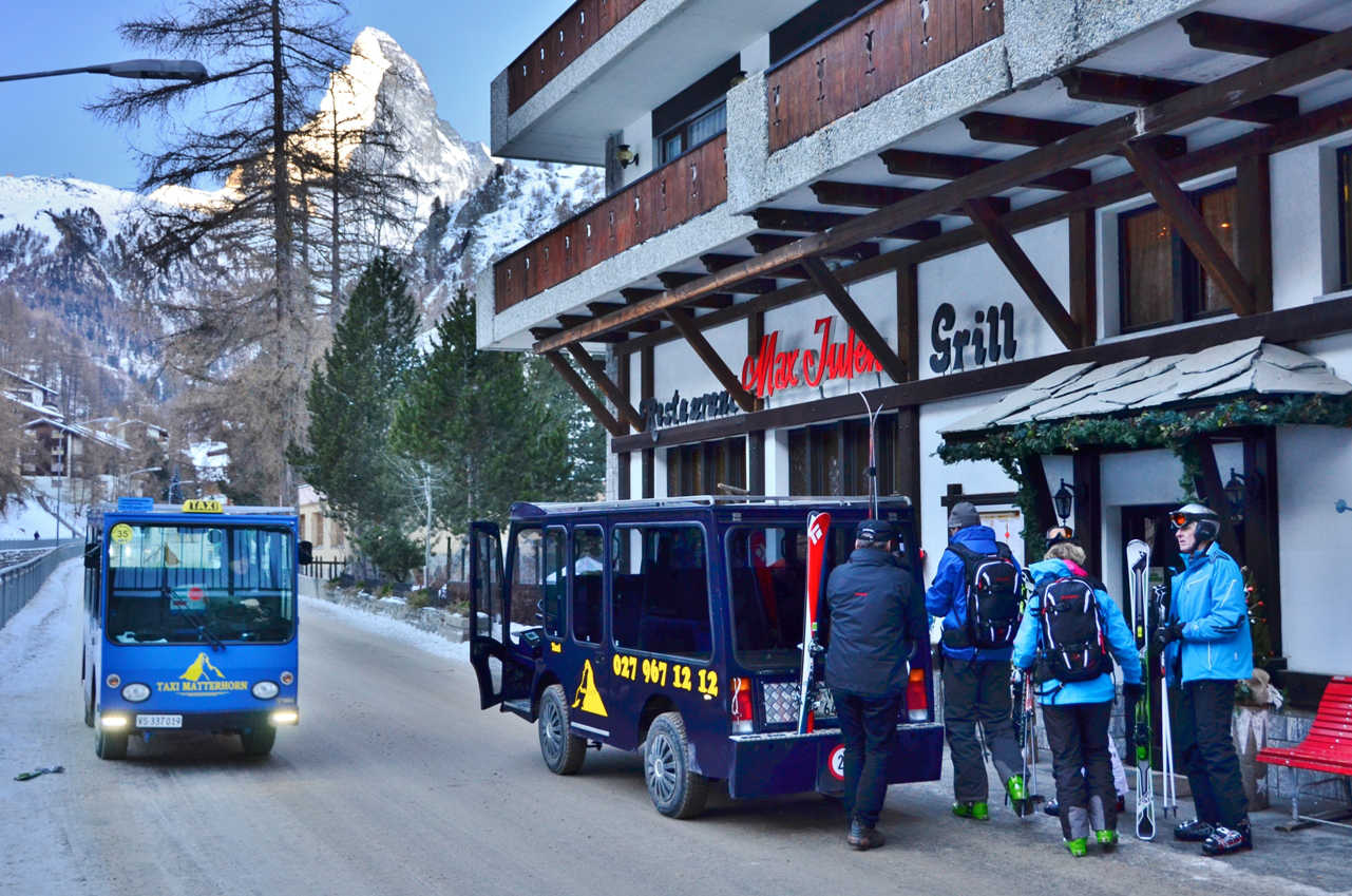 Zermatt has no exhaust fumes and traffic jams thanks to public ebuses