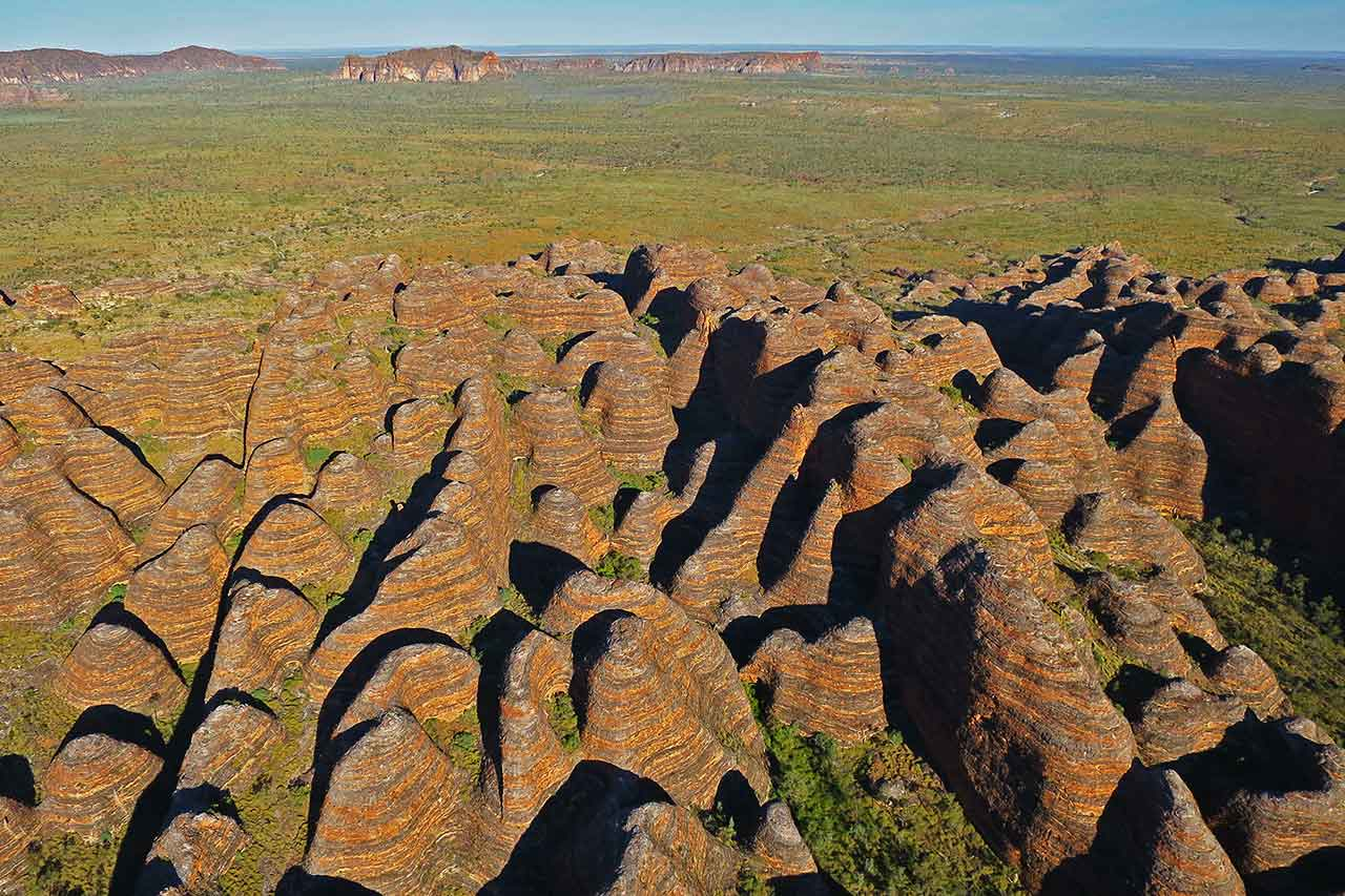 The Domes of the Bungles from up in the air