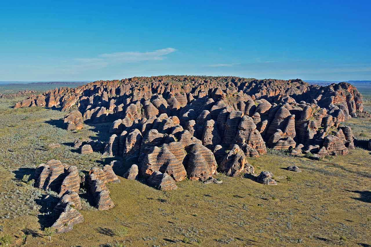 The beehive shaped Domes of the Bungle Bungle Range in Purnululu National Park
