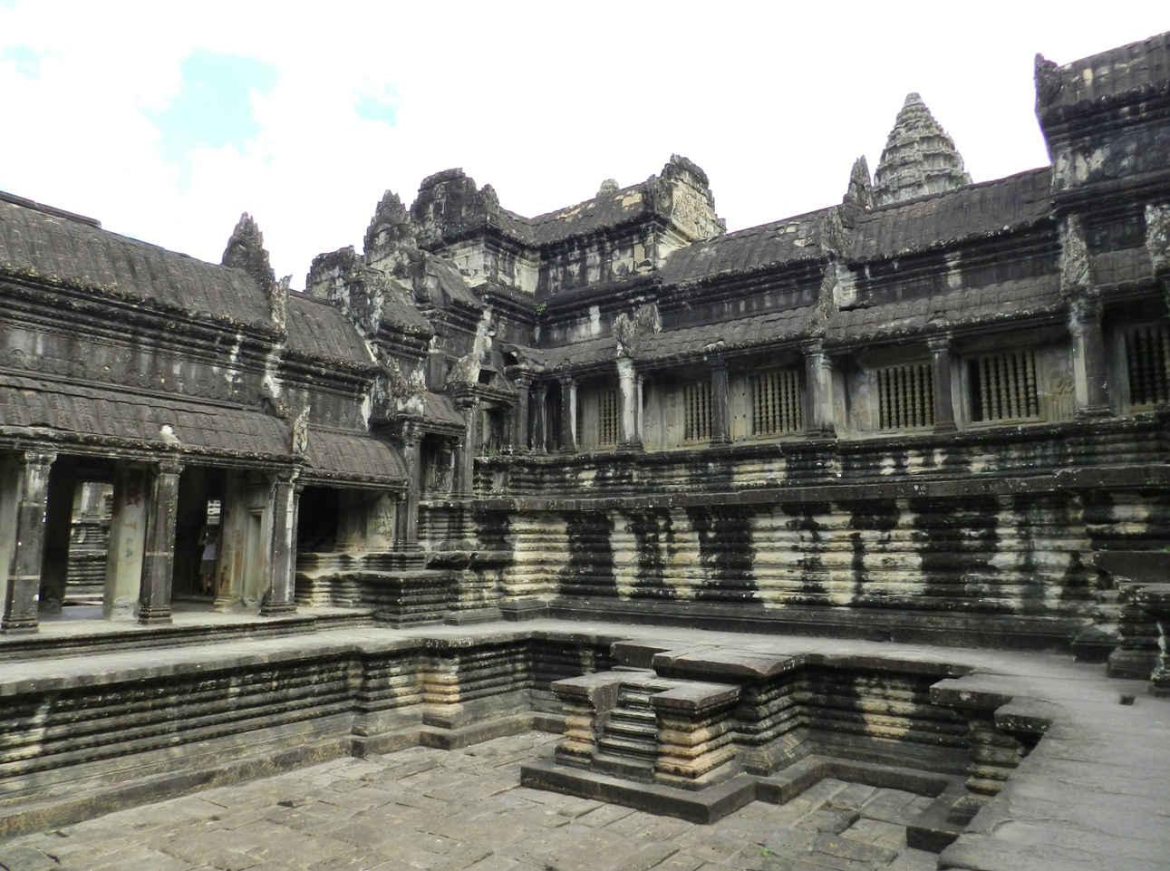 Ancient open-air baths at Angkor Wat