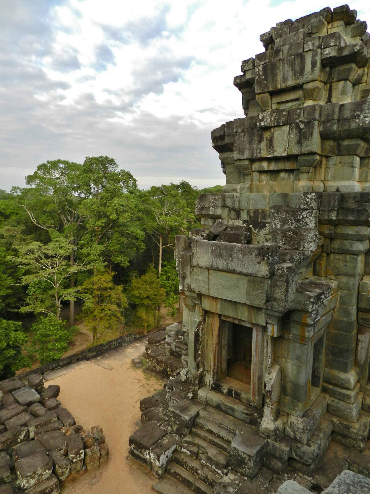 Aerial view from Prasat Ta Keo