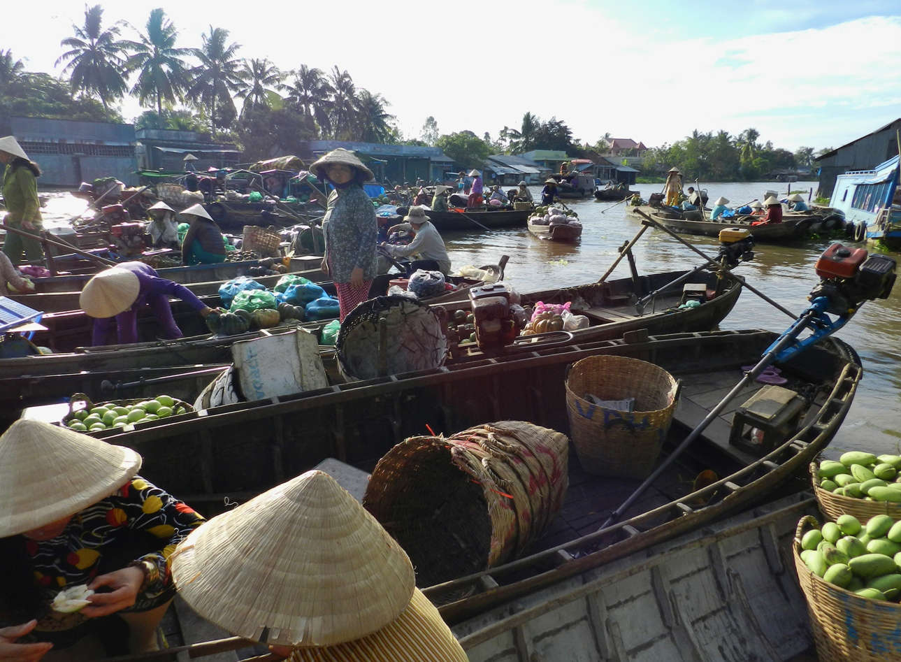 Phong Dien Market is a real experience if you come in a boat just as big as the local marketers'
