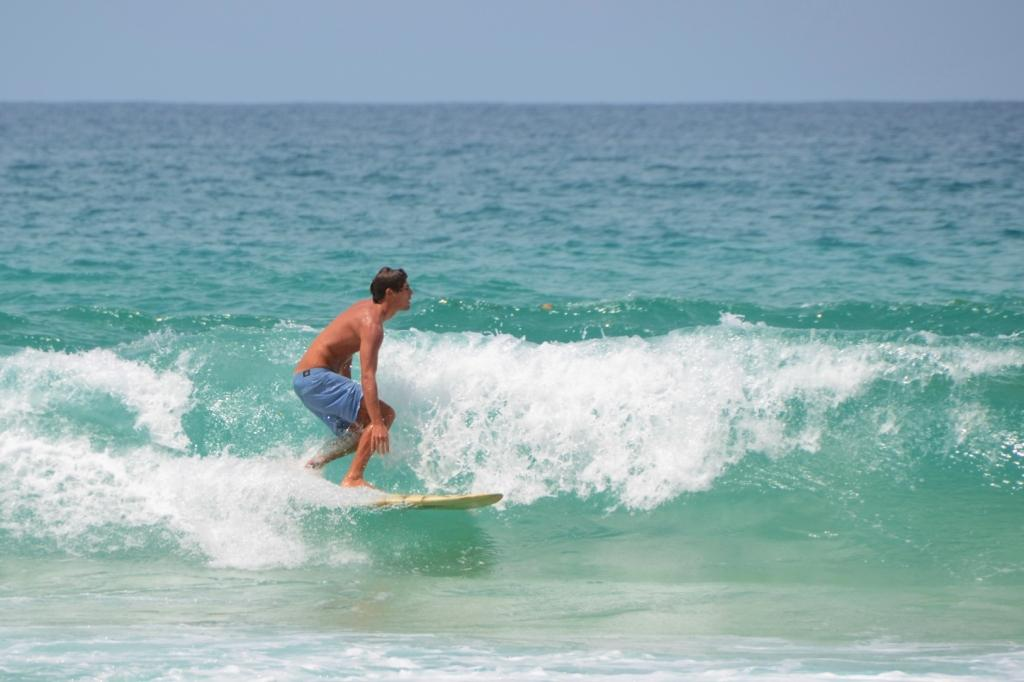 Surfer at Red Frog Beach on Isla Bastimentos