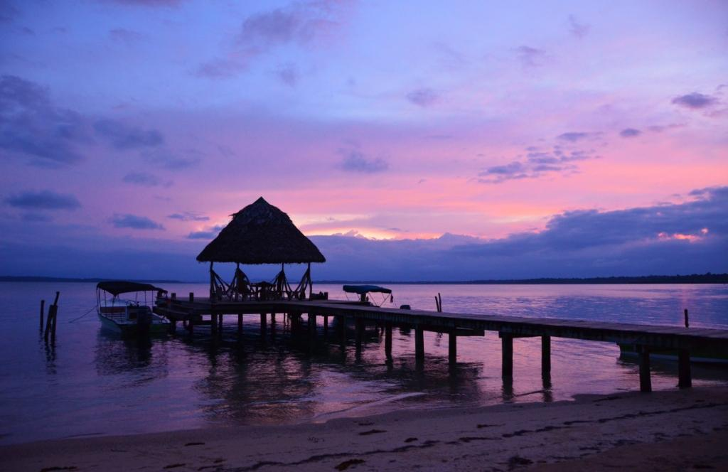 Caribbean sunsets are some of the most outstanding in the world, and Al Natural Resort on Isla Bastimentos offers an incredible setting