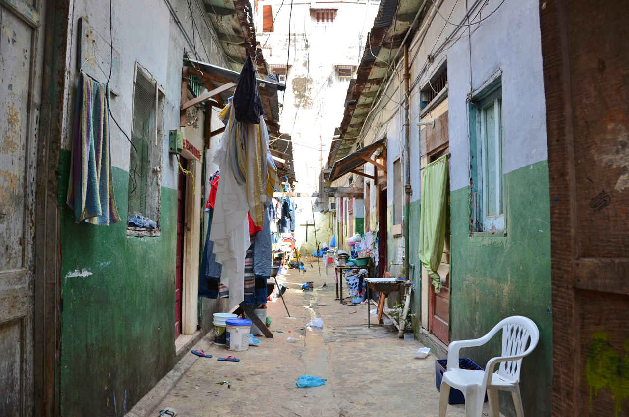 A unique glimpse into local Panamanian life down one of Casco Viejo's back alleys