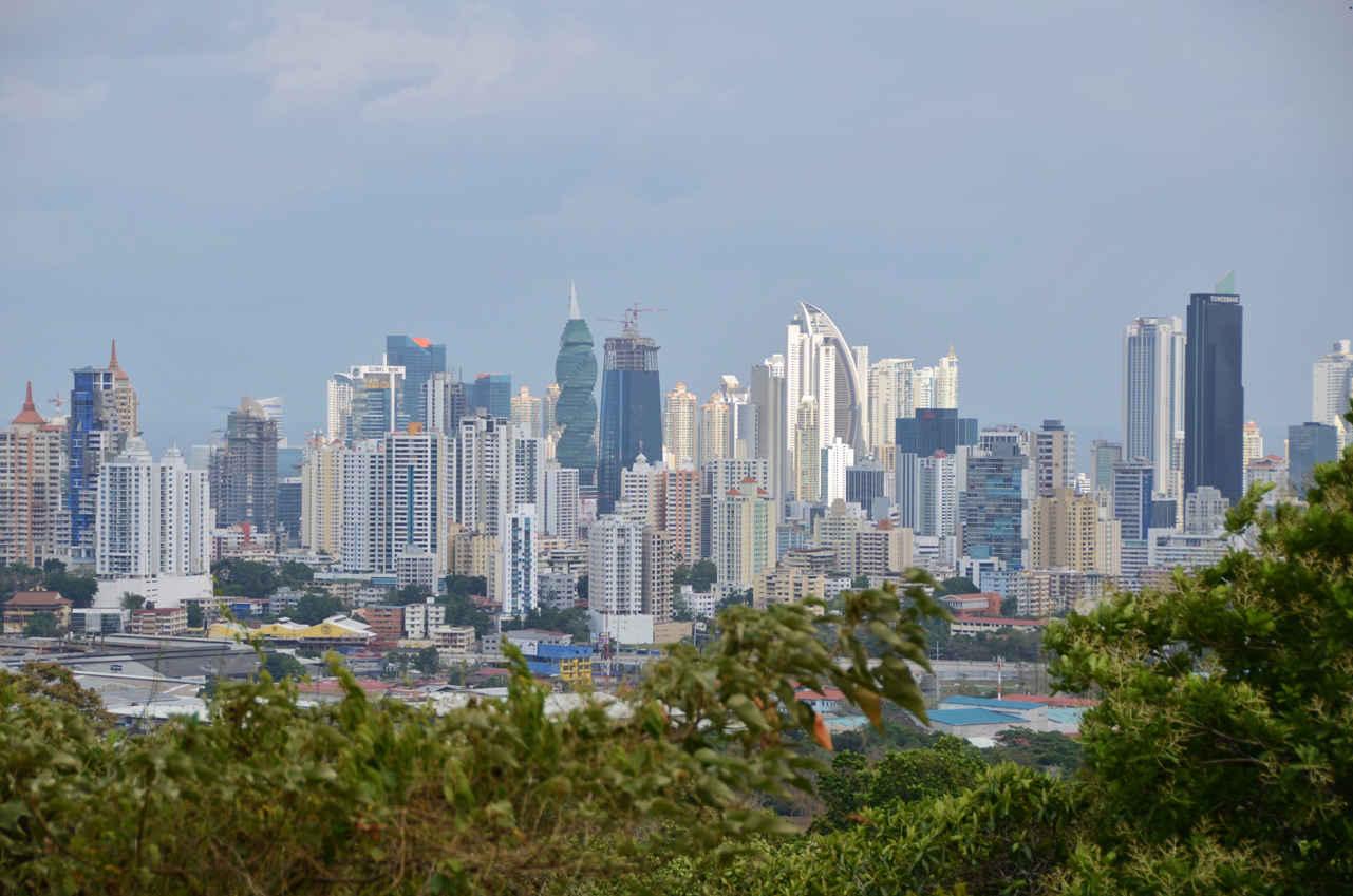 View of Panama City's impressive skyline from Cerro Ancon