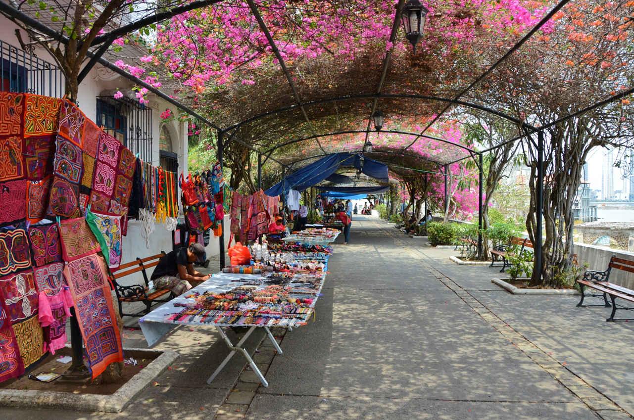Paseo Esteban Huertas is home to many street vendors