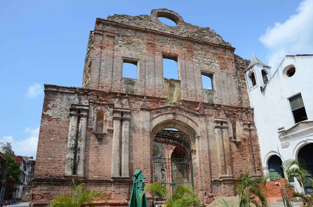 The ruins of the Church of Santo Domingo