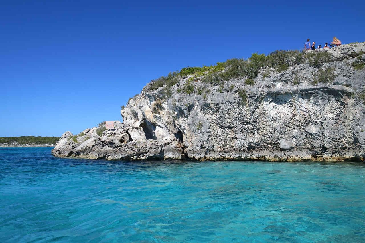 Bahamas Thunderball Grotto outside