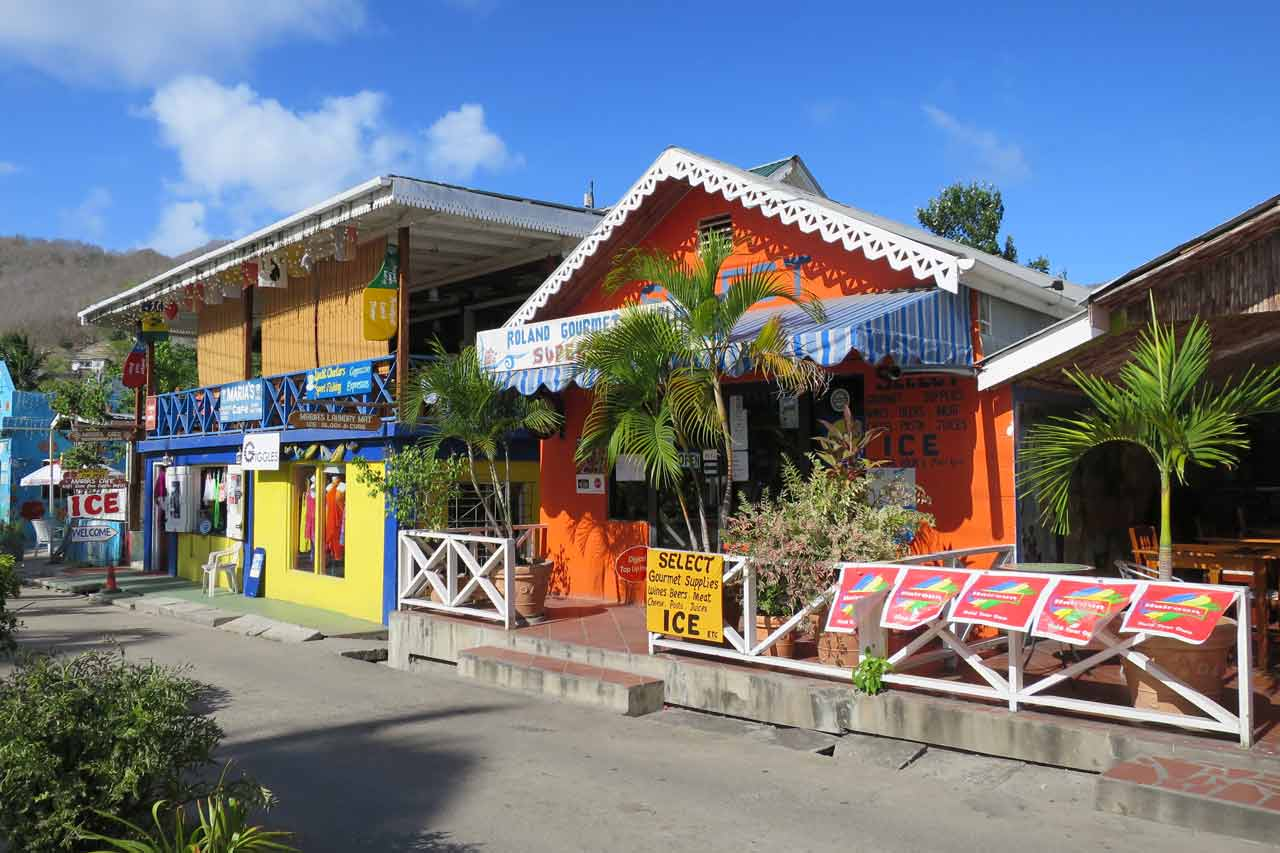 Bequia's quiet and beautiful main street