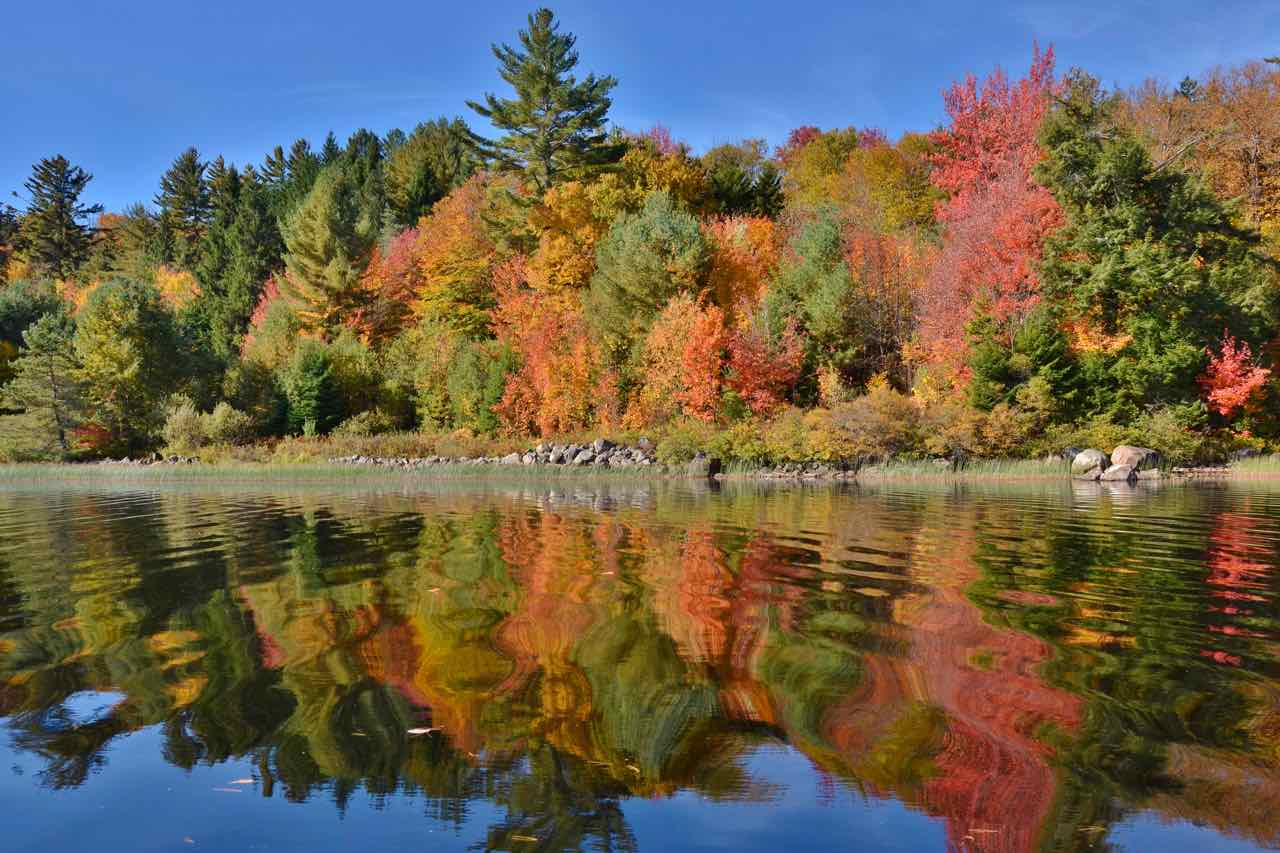 The fall foliage in the Adirondacks can be truly magical