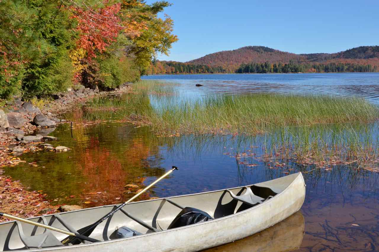 Calm waters make canoe camping in the Adirondacks an activity for the whole family