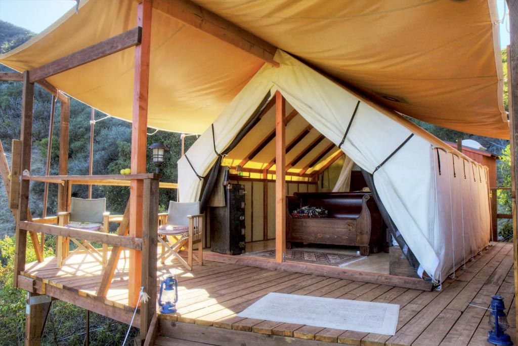 find unique airbnb accommodations tent