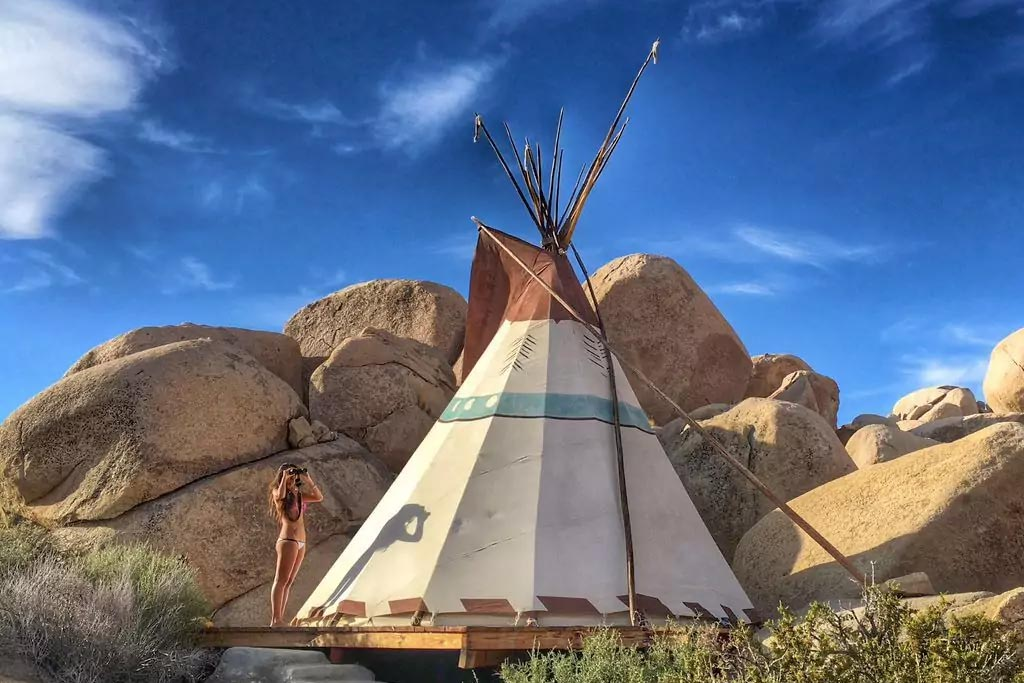 find unique airbnb accommodations tipi