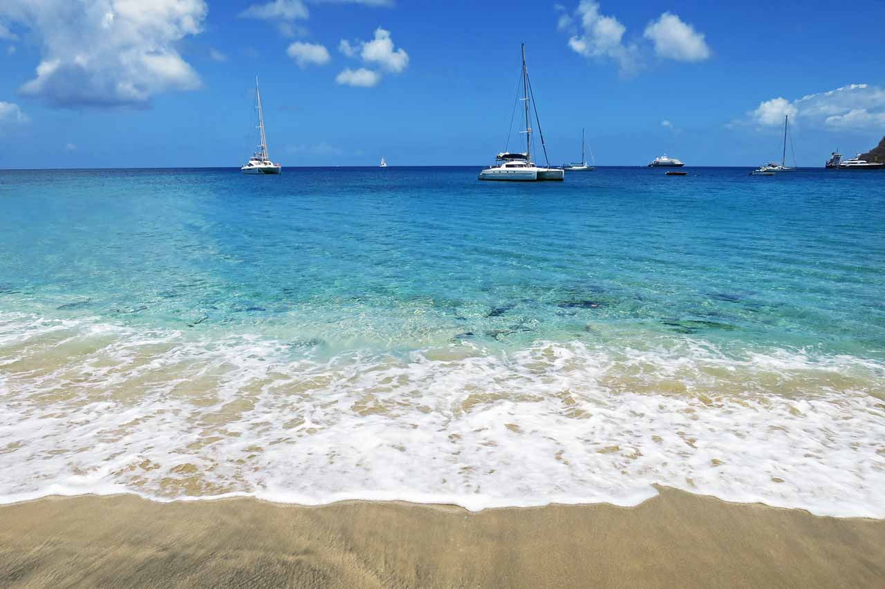 Lower Bay in Bequia is one of the most beautiful beaches in the Grenadines