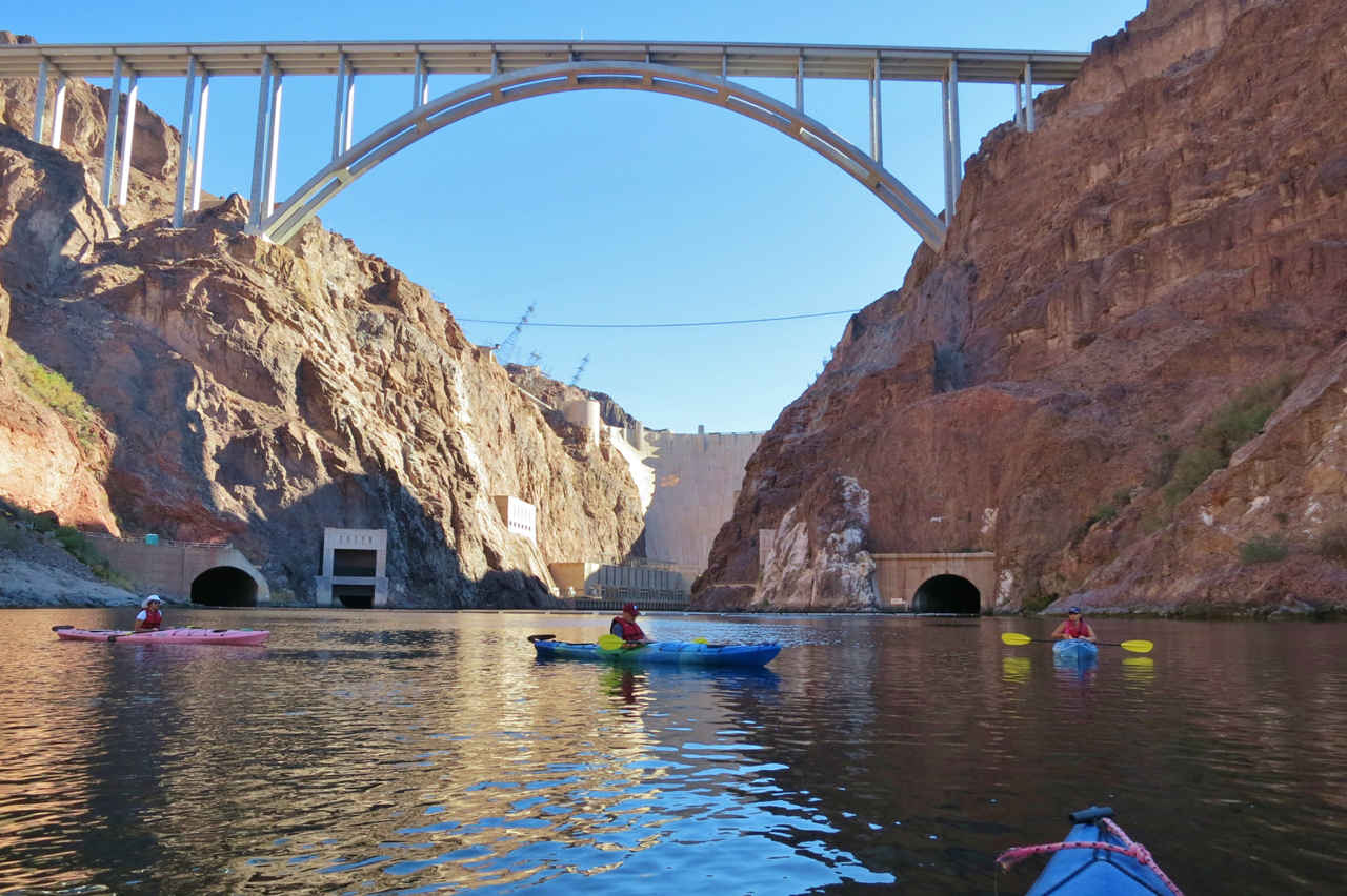 Kayaking Black Canyon Hoover Dam launch