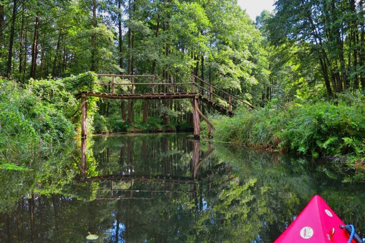 kayaking in the spreewald bridge