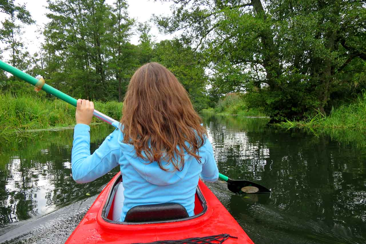 Renting your own kayak is the best way to explore the Spreewald