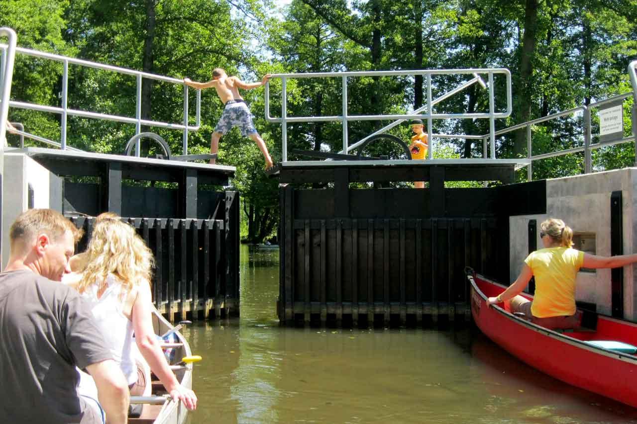 kayaking in the spreewald locks