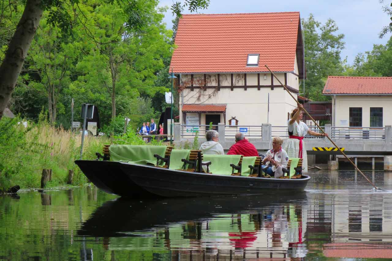 kayaking in the spreewald traditional punt