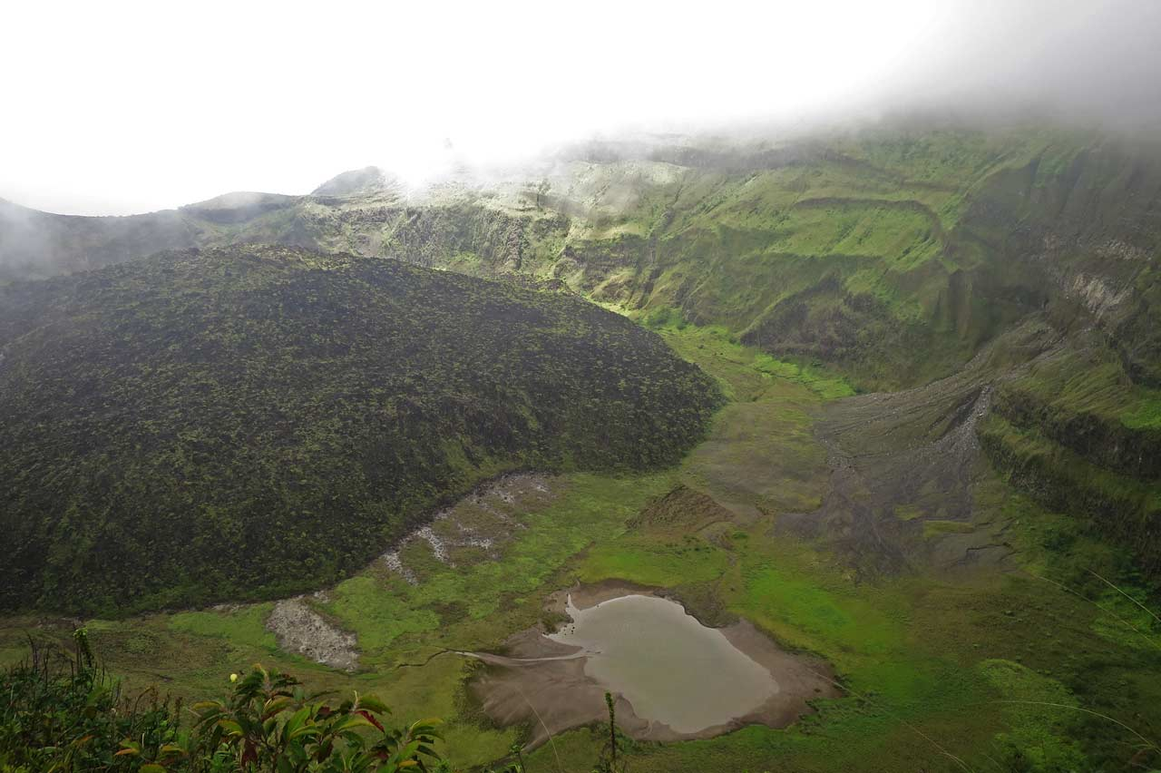 The crater of La Soufrière