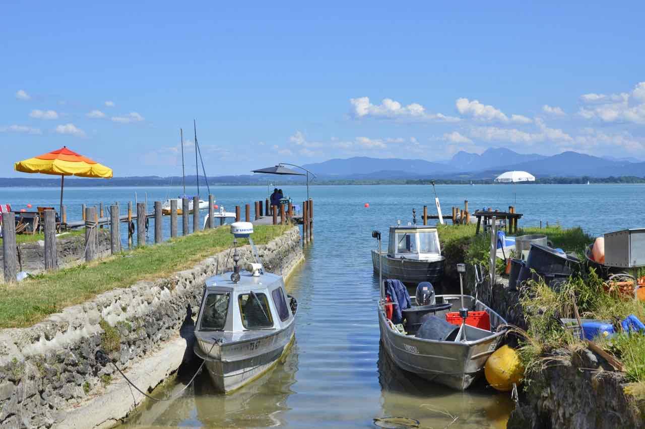 Lake Chiemsee fishing boats