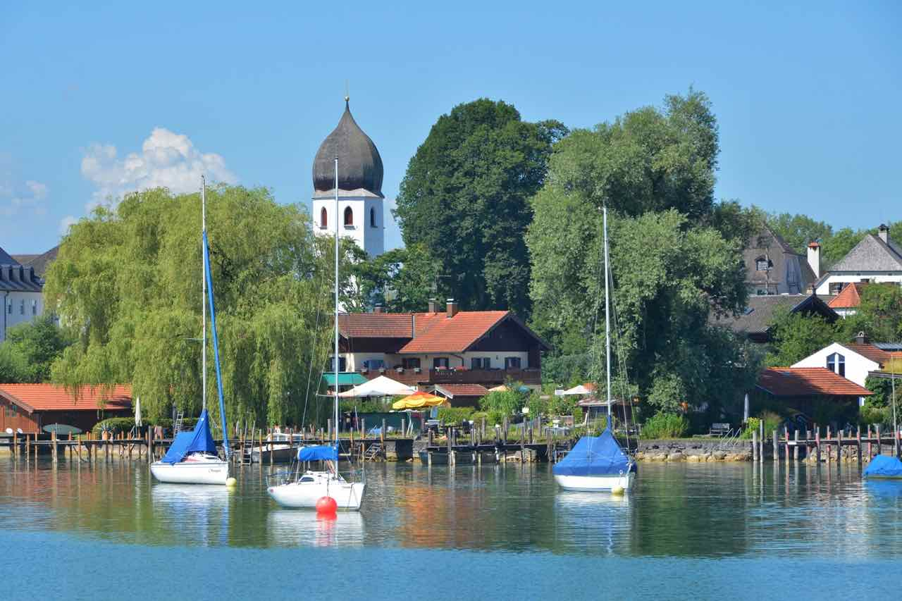 The Fraueninsel on Lake Chiemsee is home to a picturesque fishermen and artists village