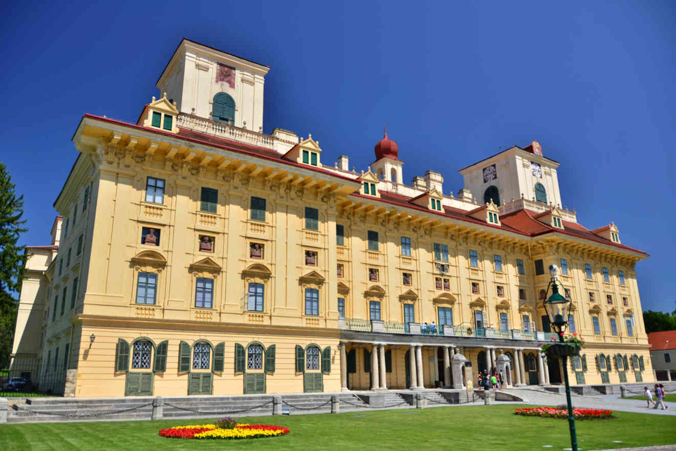 Close to Lake Neusiedl, history buffs can get their cultural fix at the Esterházy Palace, where the famous musician Joseph Haydn once worked