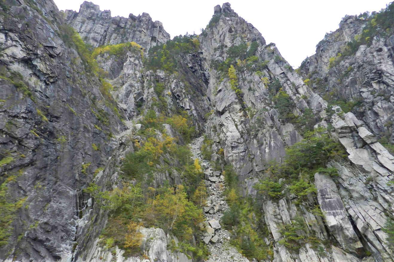 Steep, sometimes even vertical cliffs frame Lysefjord