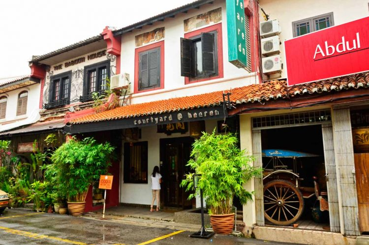 Malacca Chinatown houses
