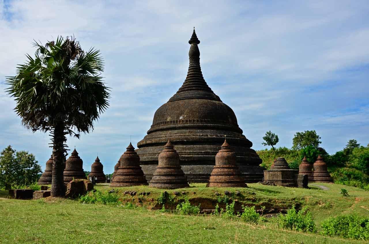 temple in Mrauk U, Myanmar