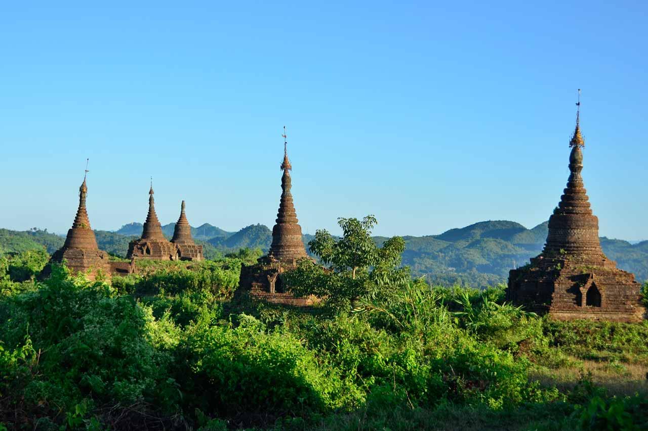 temples in Mrauk U, Myanmar