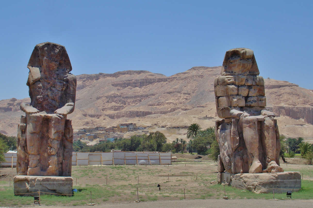 The Colossi of Memnon on Luxor's West Bank