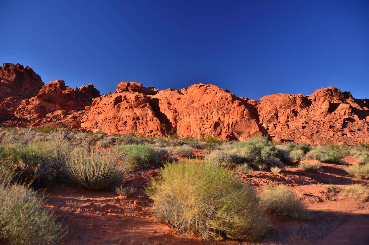 The Valley of Fire boasts impressive colors when the sunrays hit it right