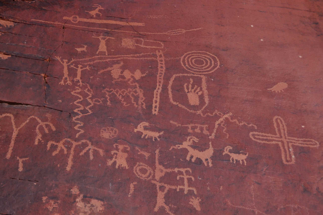 Indians have left petroglyphs in many sites throughout the Valley of Fire