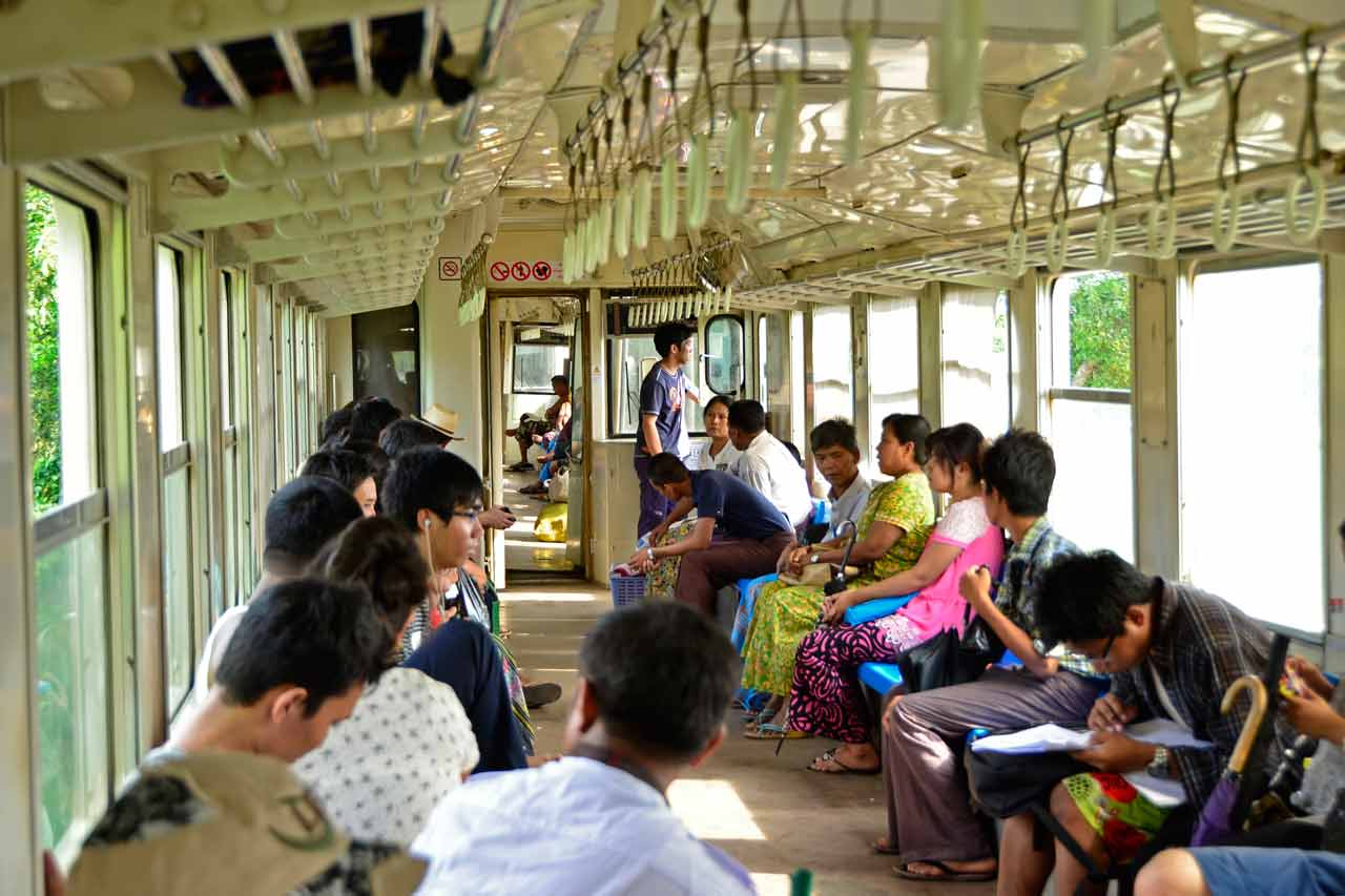 Yangon Circle Line train